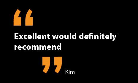 Kim testimonial